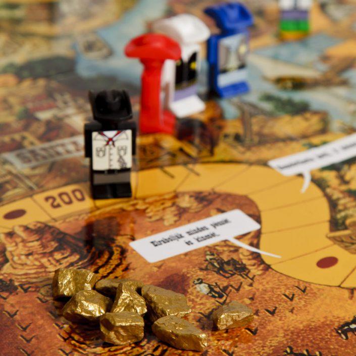 Az Ezüst-tó kincse társasjáték - játék elkezdődik